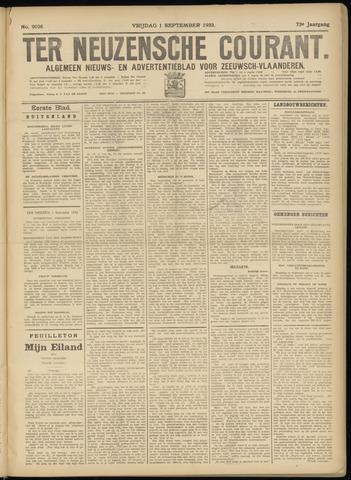Ter Neuzensche Courant. Algemeen Nieuws- en Advertentieblad voor Zeeuwsch-Vlaanderen / Neuzensche Courant ... (idem) / (Algemeen) nieuws en advertentieblad voor Zeeuwsch-Vlaanderen 1933-09-01