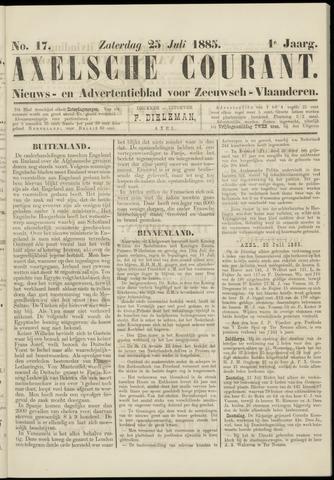 Axelsche Courant 1885-07-25