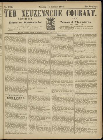 Ter Neuzensche Courant. Algemeen Nieuws- en Advertentieblad voor Zeeuwsch-Vlaanderen / Neuzensche Courant ... (idem) / (Algemeen) nieuws en advertentieblad voor Zeeuwsch-Vlaanderen 1894-02-17