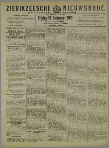 Zierikzeesche Nieuwsbode 1913-09-19
