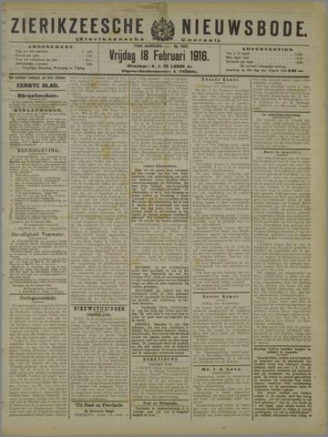 Zierikzeesche Nieuwsbode 1916-02-18