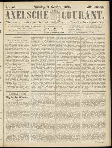 Axelsche Courant 1923-10-02