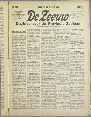 De Zeeuw. Christelijk-historisch nieuwsblad voor Zeeland 1929-01-30