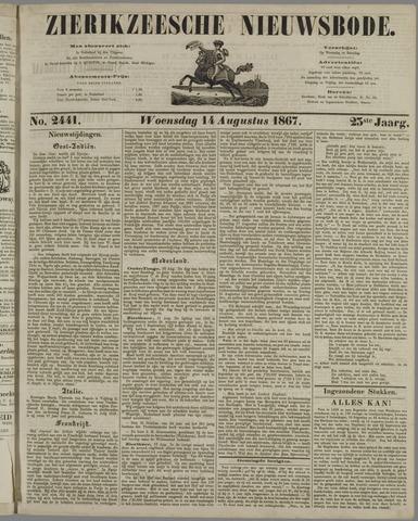Zierikzeesche Nieuwsbode 1867-08-14