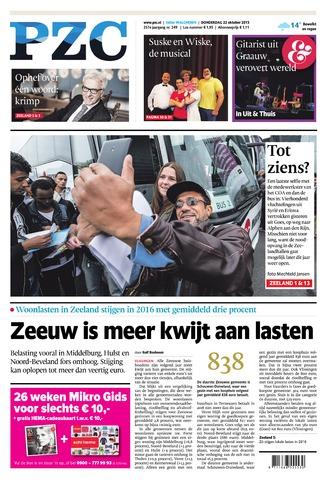 Provinciale Zeeuwse Courant 2015-10-22