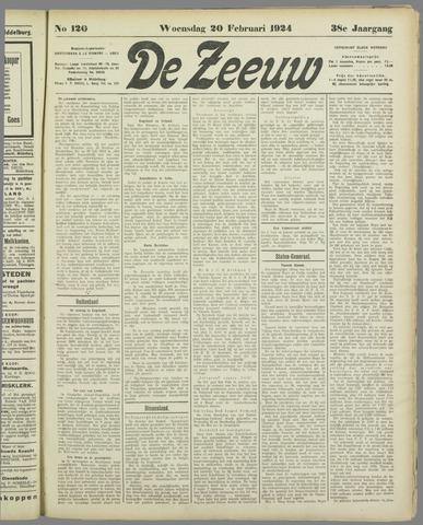 De Zeeuw. Christelijk-historisch nieuwsblad voor Zeeland 1924-02-20