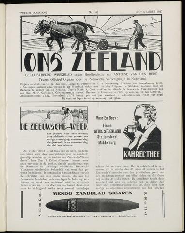 Ons Zeeland / Zeeuwsche editie 1927-11-12