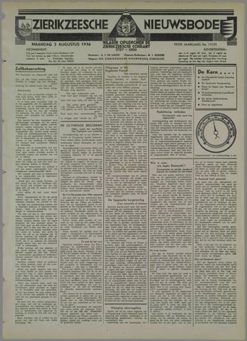 Zierikzeesche Nieuwsbode 1936-08-03