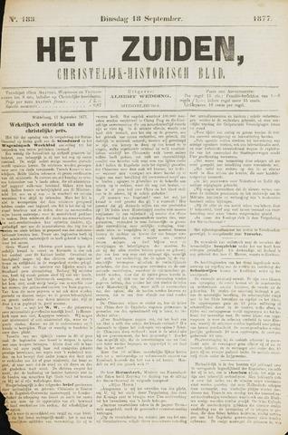 Het Zuiden, Christelijk-historisch blad 1877-09-18