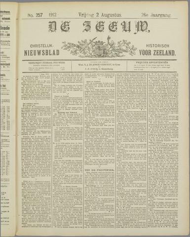 De Zeeuw. Christelijk-historisch nieuwsblad voor Zeeland 1912-08-02