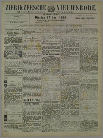 Zierikzeesche Nieuwsbode 1905-06-27