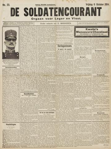 De Soldatencourant. Orgaan voor Leger en Vloot 1914-10-09