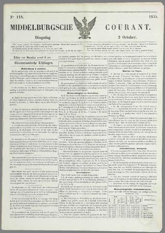 Middelburgsche Courant 1855-10-02