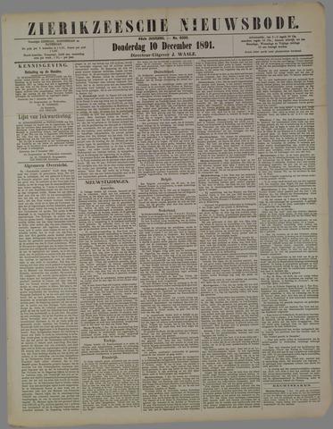 Zierikzeesche Nieuwsbode 1891-12-10