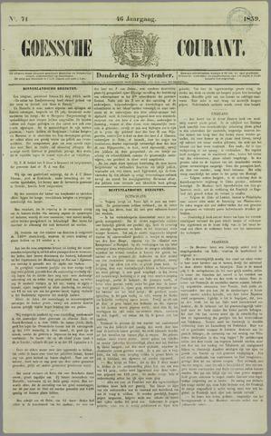 Goessche Courant 1859-09-15