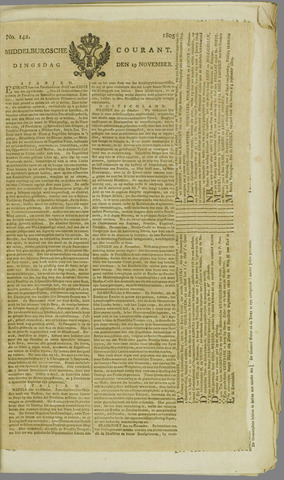 Middelburgsche Courant 1805-11-19