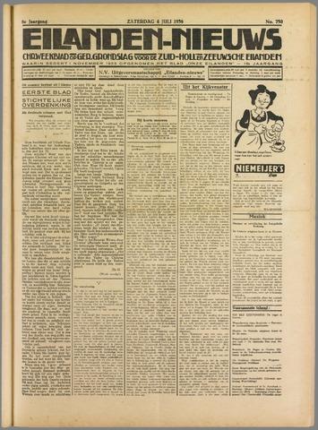 Eilanden-nieuws. Christelijk streekblad op gereformeerde grondslag 1936-07-04
