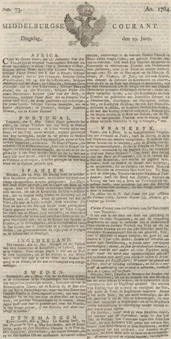 Middelburgsche Courant 1764-06-19