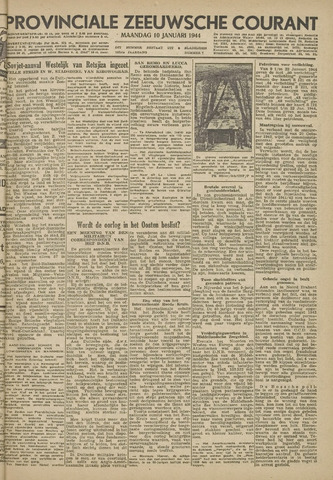 Provinciale Zeeuwse Courant 1944-01-10