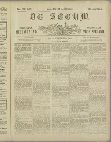De Zeeuw. Christelijk-historisch nieuwsblad voor Zeeland 1901-09-21