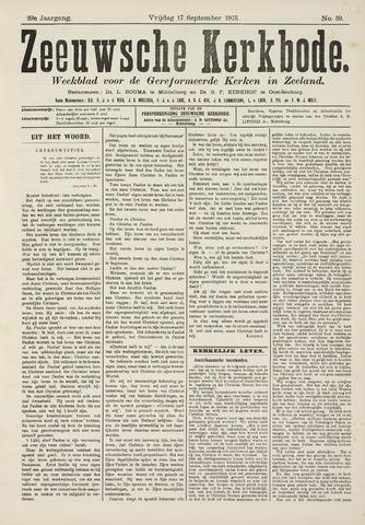 Zeeuwsche kerkbode, weekblad gewijd aan de belangen der gereformeerde kerken/ Zeeuwsch kerkblad 1915-09-17