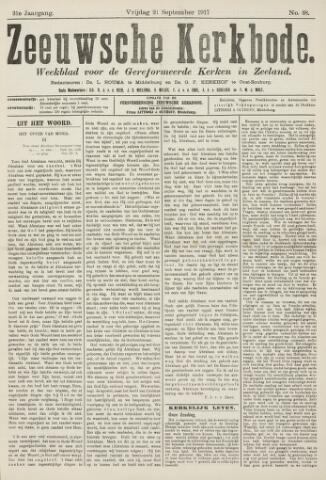 Zeeuwsche kerkbode, weekblad gewijd aan de belangen der gereformeerde kerken/ Zeeuwsch kerkblad 1917-09-21