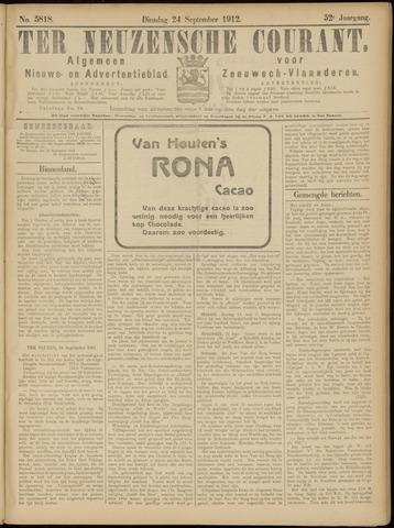 Ter Neuzensche Courant. Algemeen Nieuws- en Advertentieblad voor Zeeuwsch-Vlaanderen / Neuzensche Courant ... (idem) / (Algemeen) nieuws en advertentieblad voor Zeeuwsch-Vlaanderen 1912-09-24