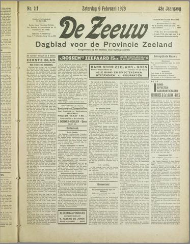De Zeeuw. Christelijk-historisch nieuwsblad voor Zeeland 1929-02-09