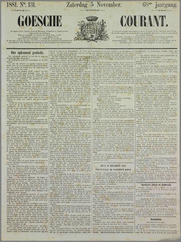 Goessche Courant 1881-11-05