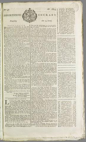 Zierikzeesche Courant 1814-06-14