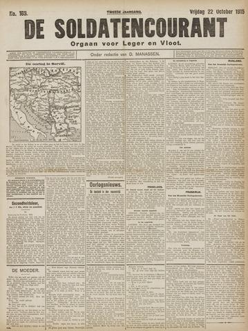 De Soldatencourant. Orgaan voor Leger en Vloot 1915-10-22