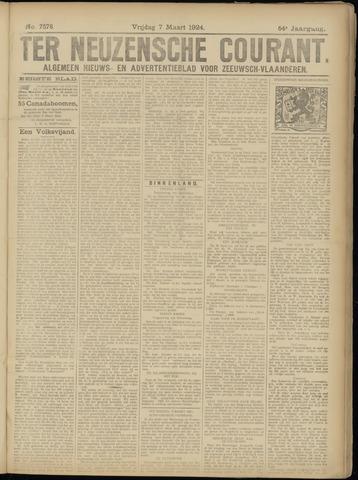 Ter Neuzensche Courant. Algemeen Nieuws- en Advertentieblad voor Zeeuwsch-Vlaanderen / Neuzensche Courant ... (idem) / (Algemeen) nieuws en advertentieblad voor Zeeuwsch-Vlaanderen 1924-03-07