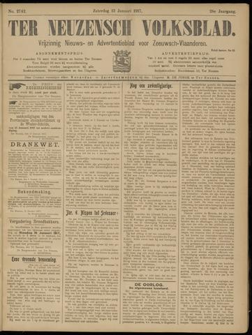 Ter Neuzensch Volksblad. Vrijzinnig nieuws- en advertentieblad voor Zeeuwsch- Vlaanderen / Zeeuwsch Nieuwsblad. Nieuws- en advertentieblad voor Zeeland 1917-01-13