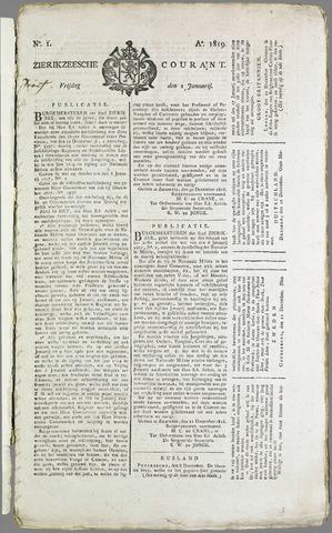 Zierikzeesche Courant 1819