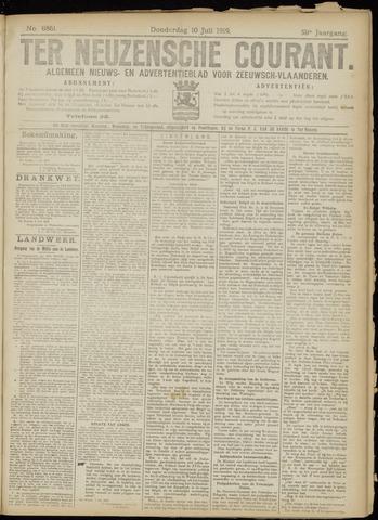 Ter Neuzensche Courant. Algemeen Nieuws- en Advertentieblad voor Zeeuwsch-Vlaanderen / Neuzensche Courant ... (idem) / (Algemeen) nieuws en advertentieblad voor Zeeuwsch-Vlaanderen 1919-07-10
