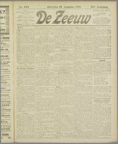 De Zeeuw. Christelijk-historisch nieuwsblad voor Zeeland 1916-08-19