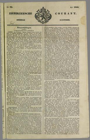 Zierikzeesche Courant 1844-10-15