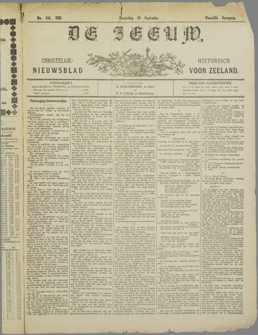 De Zeeuw. Christelijk-historisch nieuwsblad voor Zeeland 1898-09-29