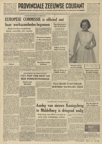 Provinciale Zeeuwse Courant 1958-01-17