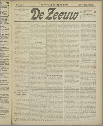 De Zeeuw. Christelijk-historisch nieuwsblad voor Zeeland 1916-04-19