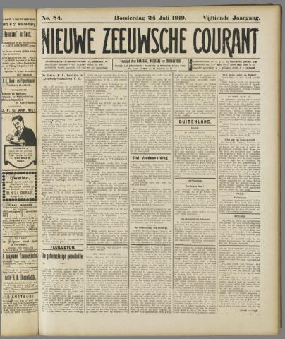 Nieuwe Zeeuwsche Courant 1919-07-24