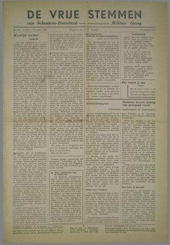 Vrije Stemmen van Schouwen-Duiveland, tevens mededeelingenblad Militair Gezag 1945-11-02