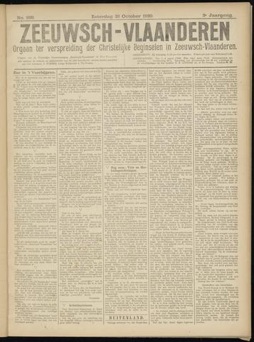 Luctor et Emergo. Antirevolutionair nieuws- en advertentieblad voor Zeeland / Zeeuwsch-Vlaanderen. Orgaan ter verspreiding van de christelijke beginselen in Zeeuwsch-Vlaanderen 1920-10-23