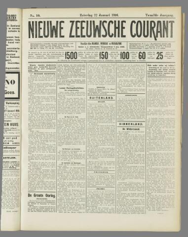 Nieuwe Zeeuwsche Courant 1916-01-22
