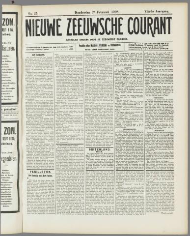 Nieuwe Zeeuwsche Courant 1908-02-27