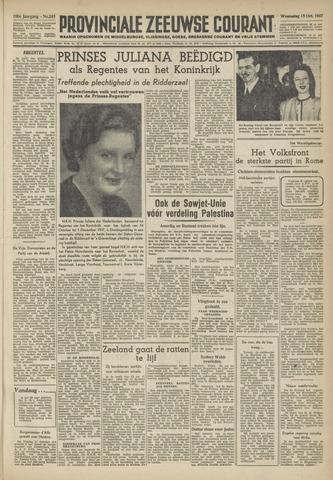 Provinciale Zeeuwse Courant 1947-10-15