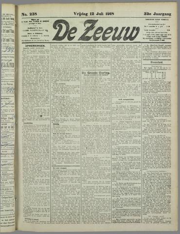 De Zeeuw. Christelijk-historisch nieuwsblad voor Zeeland 1918-07-12