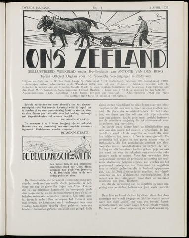 Ons Zeeland / Zeeuwsche editie 1927-04-02