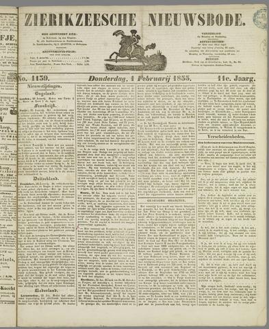 Zierikzeesche Nieuwsbode 1855-02-01