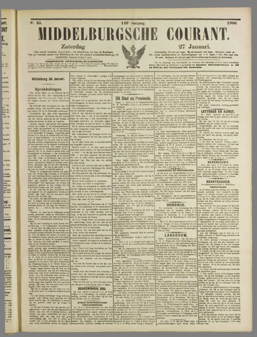 Middelburgsche Courant 1906-01-27